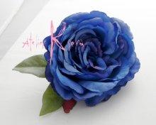 他の写真2: 造花ブルーローズ ショートキャスケードブーケ・ブトニア・ヘッドパーツセット