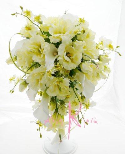 画像1: 造花リシアンサス(トルコキキョウ) シャワースタイルブーケ ボリュームT