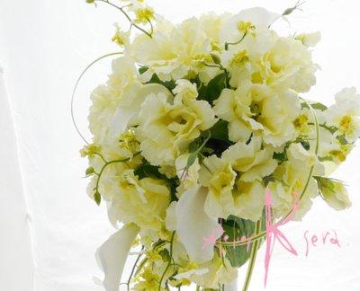 画像4: 造花リシアンサス(トルコキキョウ) シャワースタイルブーケ ボリュームT