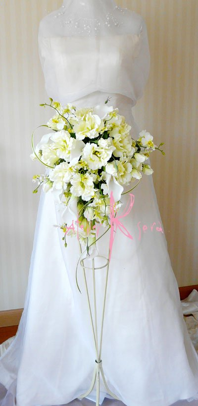 画像5: 造花リシアンサス(トルコキキョウ) シャワースタイルブーケ ボリュームT