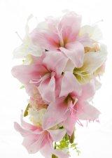 造花カサブランカ ピンク&ホワイト  ボリュームT