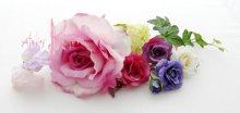 他の写真1: 造花パープルローズグラデーション シャワースタイルブーケ ボリュームT・ブトニア・ヘッドパーツセット