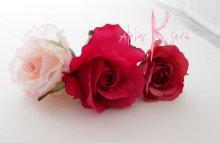 他の写真2: 造花ピンクグラデーションローズ ラウンドブーケ・ブトニア・ヘッドパーツセット