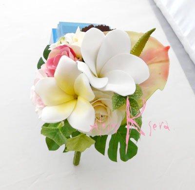 画像4: オーダーメイド クラッチ・ブトニア・花冠(プルメリア&アンスリウム)