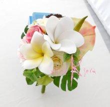 他の写真2: オーダーメイド クラッチ・ブトニア・花冠(プルメリア&アンスリウム)