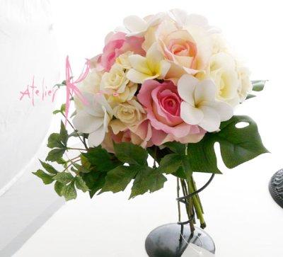 画像3: オーダーメイド クラッチ・ブトニア・花冠(プルメリア&アンスリウム)