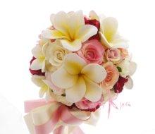 他の写真1: 造花オーダーメイド スティックブーケ&ブトニア(ミニローズ&プルメリア)