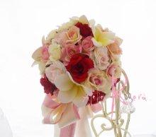 他の写真2: 造花オーダーメイド スティックブーケ&ブトニア(ミニローズ&プルメリア)