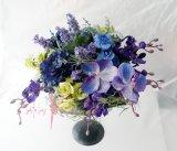 造花オーダーメイドブーケ クラッチ(ブルー&パープル)