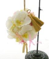 造花オーダーメイドブーケ 和装用ボールブーケ(コチョウラン&マム)