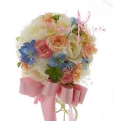 他の写真1: 造花オーダーメイドブーケ  スティックブーケ&ブトニア(ローズミックス&羽)