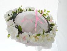 他の写真1: 造花オーダーメイドブーケ  キャスケード・ブトニア・花冠(ホワイトローズ・ジャスミン&ライトピンク)
