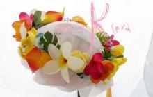 他の写真3: 造花プルメリア&ミックスカラー ラウンドブーケ・ブトニア・ヘッドパーツセット