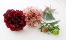 他の写真3: 造花ワインとモーブダリア クラッチブーケ・ブトニア・ヘッドパーツセット