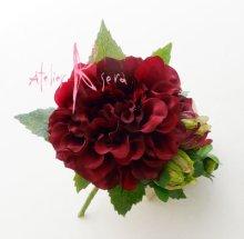 他の写真2: 造花ワインとモーブダリア クラッチブーケ・ブトニア・ヘッドパーツセット