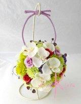造花オーダーメイドブーケ 和装ボールブーケ