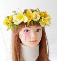他の写真2: 造花オーダーメイドブーケ  クラッチ20・ブトニア・花冠・リストレット(プルメリアイエローグラデーションー)