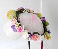 他の写真3: 造花オーダーメイドブーケ  クラッチ・ブトニア・花冠・ヘッドパーツ(ピンクピオニー&スイートピー)