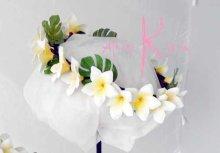 他の写真2: 造花オーダーメイドブーケ クラッチ・ブトニア・ヘッドパーツ・花冠(プルメリア&ミニプルメリア)
