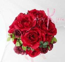 他の写真1: 造花オーダーメイドブーケ  4Pシェアブーケ・ブトニア・ヘッドパーツ(Rローズグラデーション)