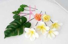 他の写真3: 造花オーダーメイドブーケ キャスケード・ブトニア・ヘッドパーツ(アンスリウム&プルメリア)