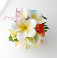 他の写真2: 造花オーダーメイドブーケ キャスケード・ブトニア・ヘッドパーツ(アンスリウム&プルメリア)