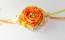 他の写真2: 造花オーダーメイドブーケ クラッチ22・ブトニアヘッドパーツ・リストレット・花冠(ラナンキュラスMIX&プルメリア)
