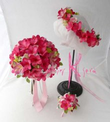 他の写真3: 造花オーダーメイドブーケ クラッチ25・ブトニア・花冠(P&Pプルメリア)