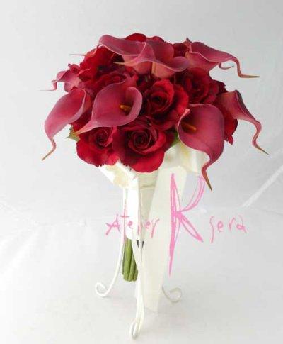 画像4: 造花オーダーメイドブーケ クラッチ・ブトニア・ヘッドパーツセット(レッドローズ&カラー)