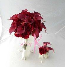 他の写真1: 造花オーダーメイドブーケ クラッチ・ブトニア・ヘッドパーツセット(レッドローズ&カラー)