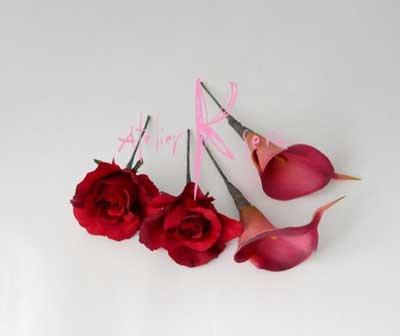 画像5: 造花オーダーメイドブーケ クラッチ・ブトニア・ヘッドパーツセット(レッドローズ&カラー)