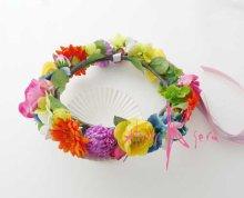 他の写真2: 造花オーダーメイドブーケ クラッチ・リストレット・花冠(ビビッドトロピカルミックス)