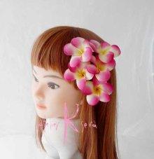 他の写真1: 造花ピンクプルメリア&ガーベラ ラウンドブーケ・ブトニア・ヘッドパーツセット