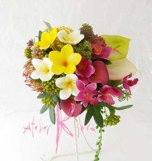 他の写真1: 造花トロピカルミックス♪フリースタイルブーケ・ブトニア・ヘッドパーツセット
