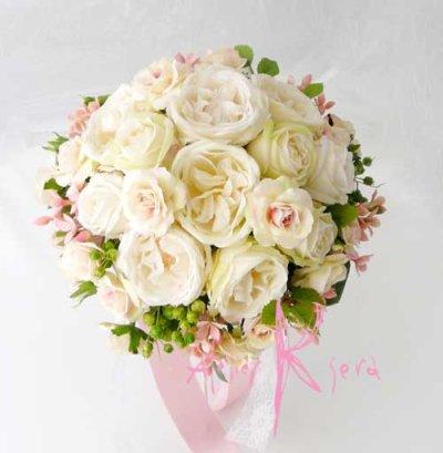 画像5: 造花オーダーメイドブーケ クラッチ24・ブトニア(アンティークローズ)