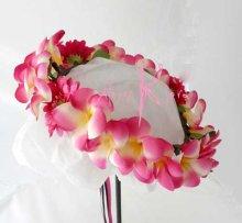 他の写真2: 造花ピンクプルメリア&ガーベラ ラウンドブーケ・ブトニア・ヘッドパーツセット
