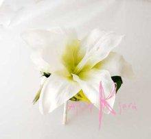 他の写真2: 造花カサブランカとカラー キャスケードブーケ・ブトニア・ヘッドパーツセット