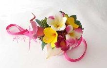 他の写真2: 造花オーダーメイドブーケ クラッチ・フラワータイ・ヘッドパーツ・リストレット(トロピカルMIX&プルメリア)