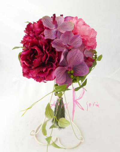 画像2: 造花和装用ブーケ ピオニー&バンダオーキット