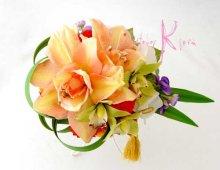 他の写真3: 造花和装用ブーケ アマリリス&オーキッド&マム