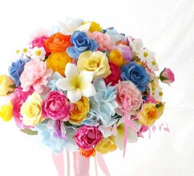 画像2: 造花オーダーメイドブーケ クラッチ22・ブトニア・ヘッドパーツセット・ミニブーケ(ミックスカラー)