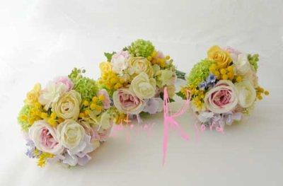 画像4: 造花オーダーメイドブーケ  ブライズメイドミニブーケ(ミックスパステルカラー)