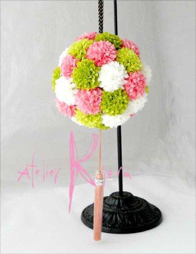 画像3: 造花オーダーメイドブーケ 和装ボールブーケ(マム4C)