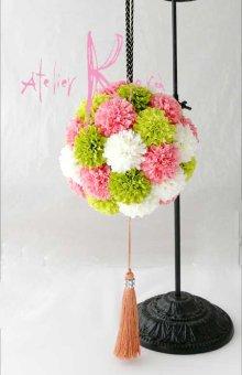 他の写真1: 造花オーダーメイドブーケ 和装ボールブーケ(マム4C)