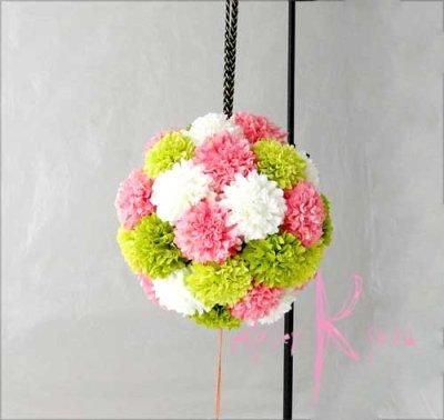 画像2: 造花オーダーメイドブーケ 和装ボールブーケ(マム4C)