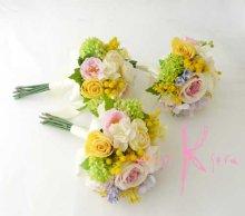 他の写真1: 造花オーダーメイドブーケ  ブライズメイドミニブーケ(ミックスパステルカラー)