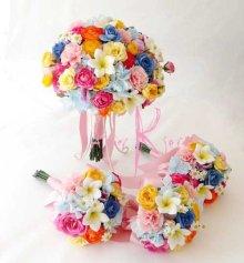 他の写真3: 造花オーダーメイドブーケ クラッチ22・ブトニア・ヘッドパーツセット・ミニブーケ(ミックスカラー)