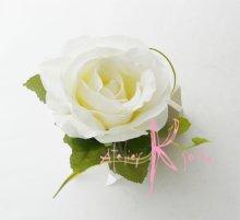 他の写真1: 造花大輪ホワイトローズ ナチュラルキャスケードブーケ・ブトニア・ヘッドパーツセット