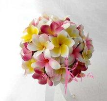 他の写真3: 造花オーダーメイドブーケ  クラッチ22・ブトニア・花冠・(プルメリア6Mix)