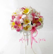 他の写真1: 造花オーダーメイドブーケ  クラッチ22・ブトニア・花冠・(プルメリア6Mix)